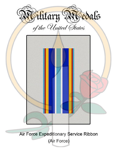 Medal Card, Air Force Expeditionary Service Ribbon