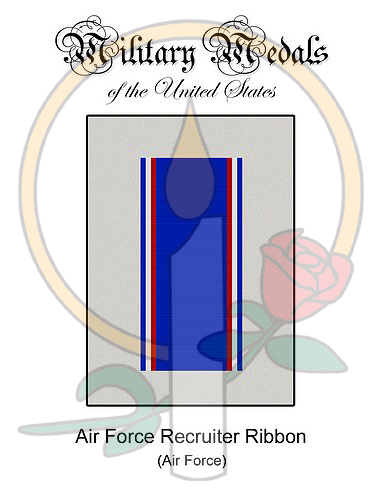 Medal Card, Air Force Recruiter Ribbon
