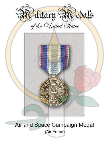 Medal Card, Air and Space Campaign Medal