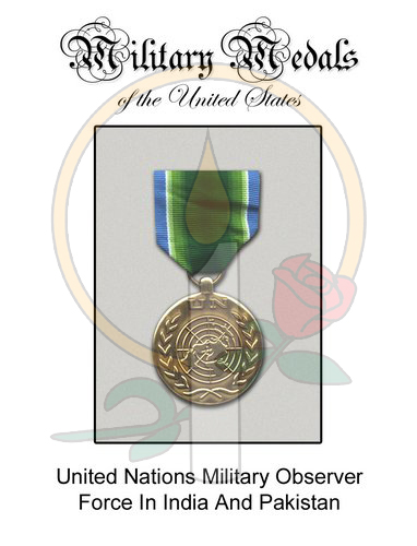 Medal Card, UN Military Observer India Pakistan