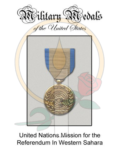 Medal Card, UN Mission in Western Sahara