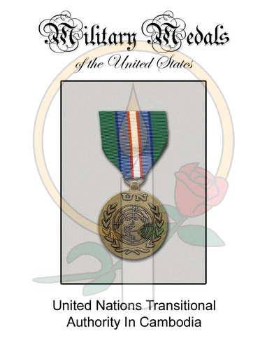 Medal Card, UN Transitional Authority in Cambodia