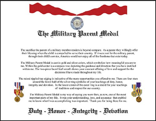 Military Parent Certifcate