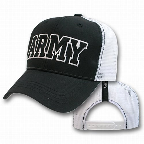 Army Text Logo Mesh Caps