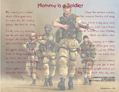 Mommy is a Soldier Print