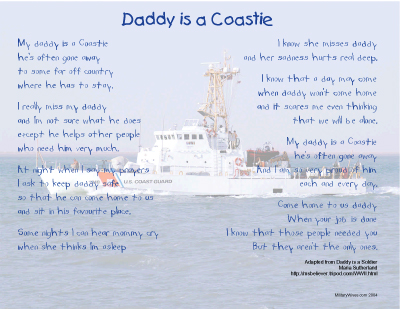 Daddy is a Coastie Print