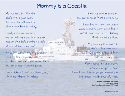 Mommy is a Coastie Print