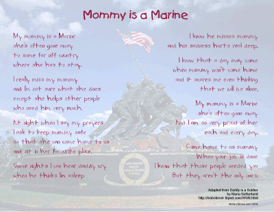 Mommy is a Marine Print