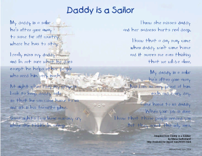 Daddy is a Sailor Print