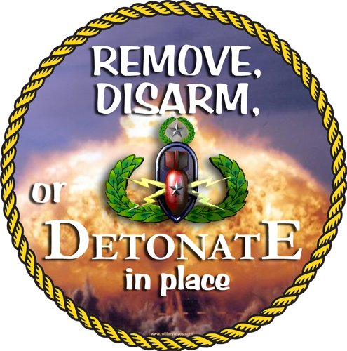 EOD, Disarm, Remove or Detonate