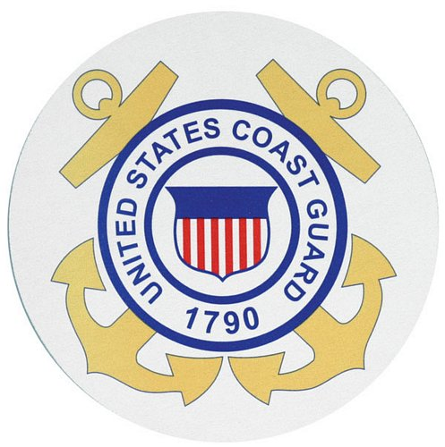 Coast Guard Crest Mouse Pad