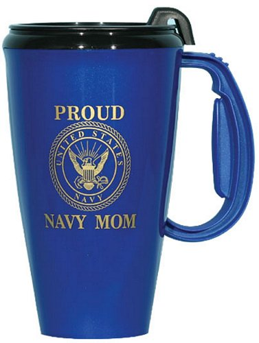 Proud Navy MOM Travel Mug