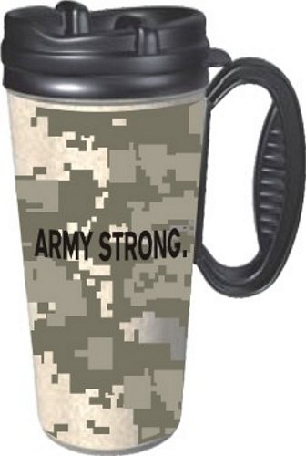 ARMY STRONG. ACU Pattern Travel Mug