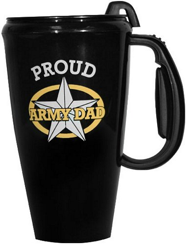 Army Dad with Star Travel Mug