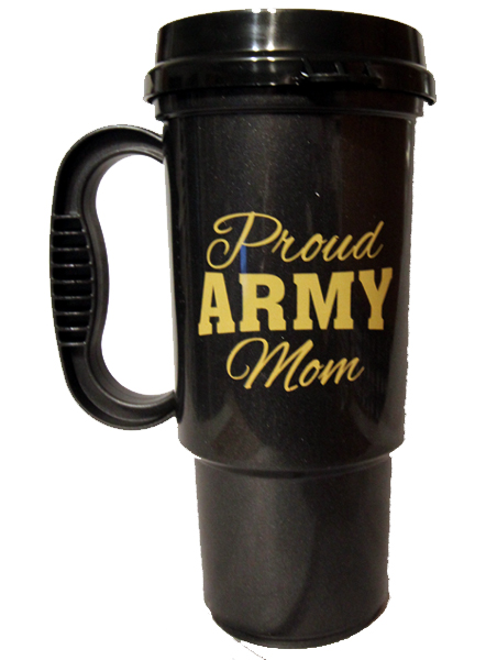 Army Mom with Star Travel Mug