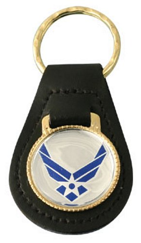 New Air Force Emblem Leather Key Fob