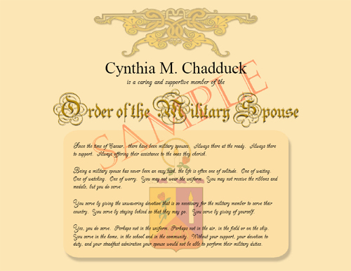 Order of the Military Spouse
