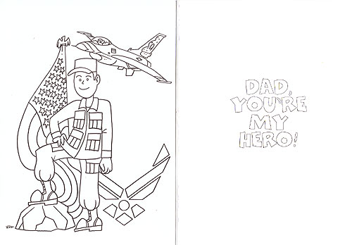 CARD, Air Force Dad Coloring Card