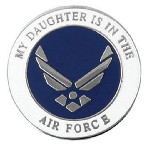 My Daughter is in the Air Force Wing Logo Lapel Pin