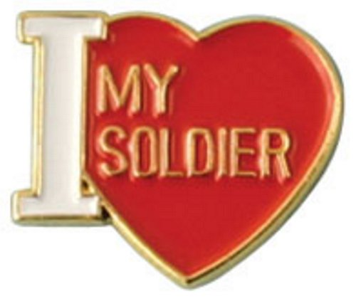 I Love My Soldier Lapel Pin