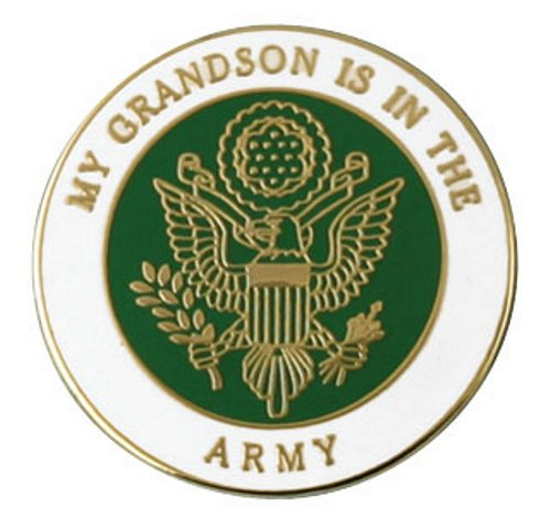 My Grandson Is In The Army Lapel Pin