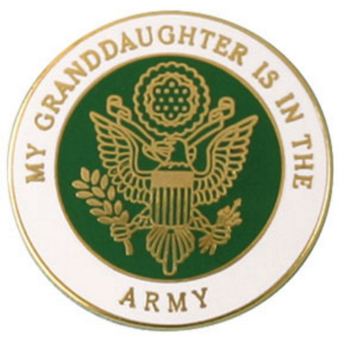 My Granddaughter Is In The Army Pin