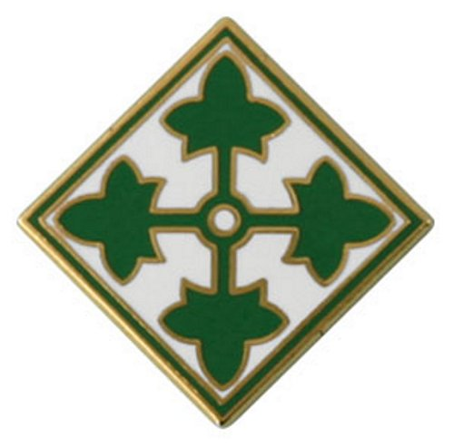 4th Infantry Division Pin