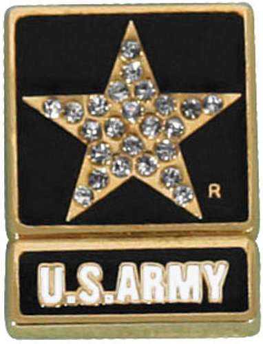 Army Star Gemstone Lapel Pin