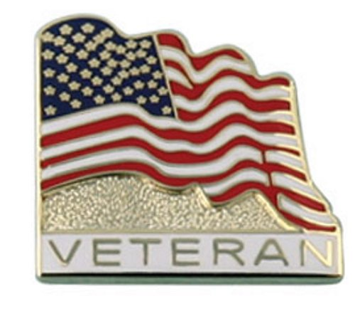 American Flag w/ Veteran Lapel Pin