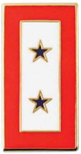 Two Blue Star Service Lapel Pin