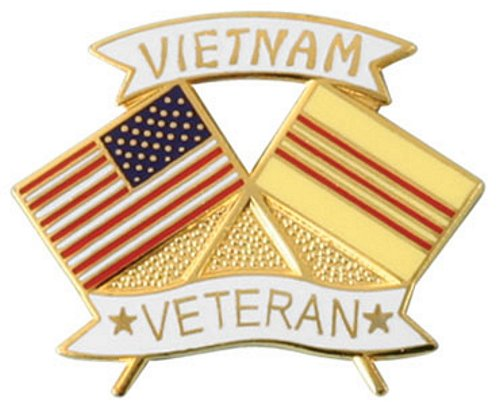USA / Vietnam Crossed Flag Lapel Pin