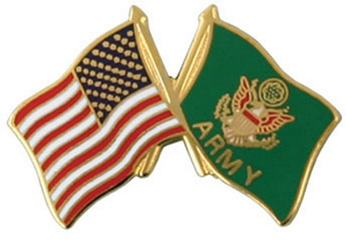 USA / Army Crossed Flag Lapel Pin
