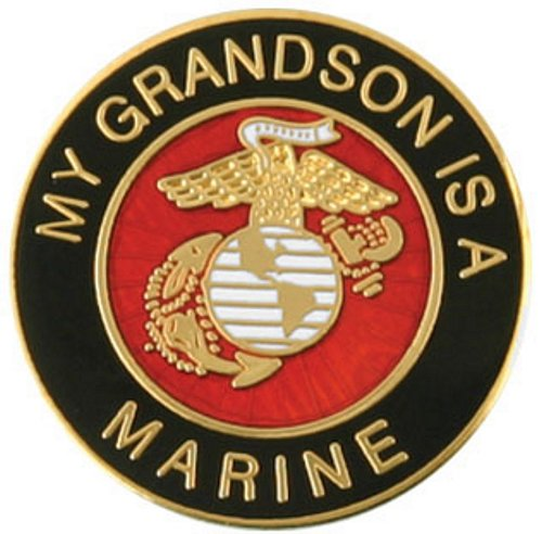 My Grandson is a Marine Lapel Pin