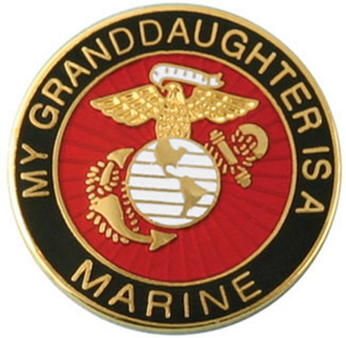 My Granddaughter is a Marine Lapel Pin