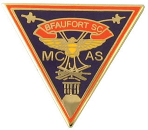 MCAS Beaufort Crest Triangle Lapel Pin