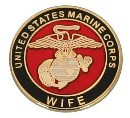 USMC Wife With Crest Lapel Pin
