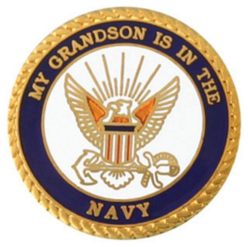 My Grandson Is In The Navy Lapel Pin
