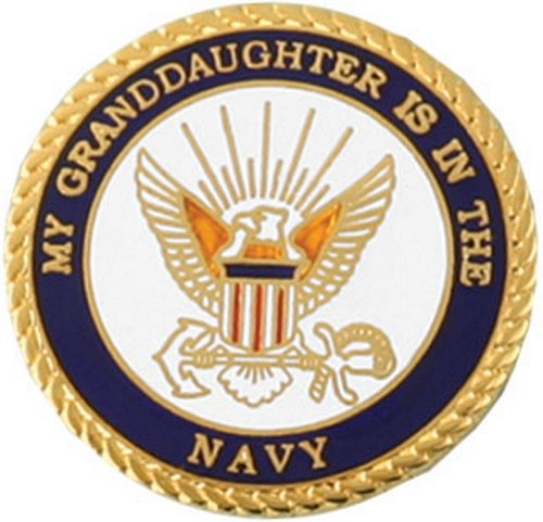 My Granddaughter Is In The Navy Lapel Pin