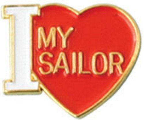 I Love My Sailor Lapel Pin