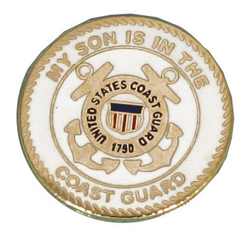 My Son is in the USCG Lapel Pin