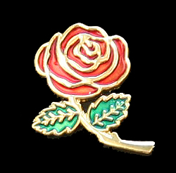 """Military Wives Rose"" Enameled Lapel"
