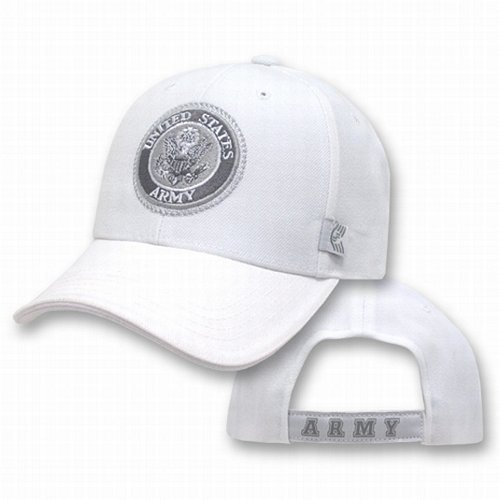 Army White Tonal Logo Caps