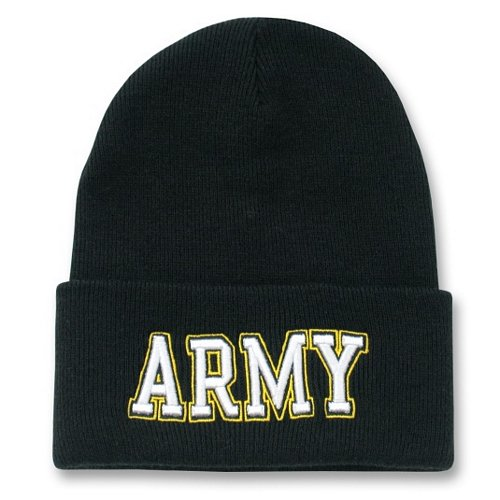 Army Text Long Beanies