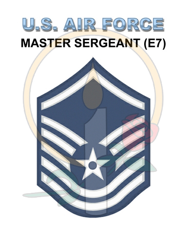 Rank Card, Air Force E7 MSGT