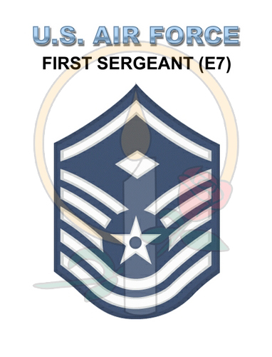 Rank Card, Air Force E7 1stSGT