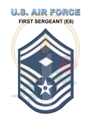 Rank Card, Air Force E8 1stSGT