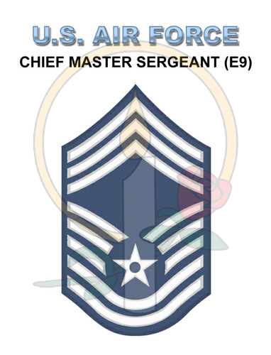 Rank Card, Air Force E9 CMSGT