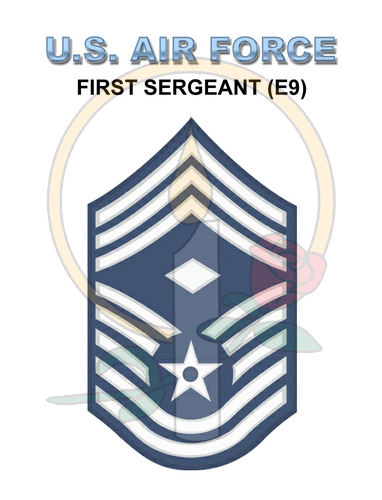 Rank Card, Air Force E9 1stSGT