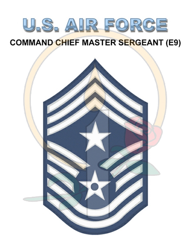 Rank Card, Air Force E9 Cmd CMSGT