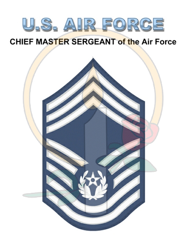 Rank Card, Air Force E9 CMSGT of AF